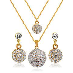 Šperky Náhrdelníky / Küpeler Svatební šperky Soupravy Svatební 1Nastavte Dámské Zlatá Svatební dary