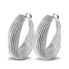 Femme Boucles d'oreille gitane Sexy Mode Bijoux Fantaisie bijoux de fantaisie Argent sterling Forme de Cercle Bijoux Pour Mariage Soirée