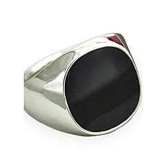 Férfi Vallomás gyűrűk Zafír Drágakő Természetes fekete Személyre szabott jelmez ékszerek Divat Régies (Vintage) Punk stílus minimalista