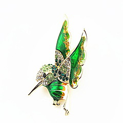 Mulher coreana broche de aves liga