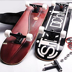Standard-Skateboards Holz Schwarz