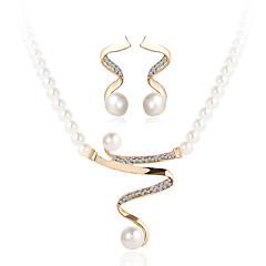 Komplet nakita Kristal luksuzni nakit kostim nakit Biseri Imitacija bisera Umjetno drago kamenje Imitacija dijamanta Legura 1 Ogrlica 1