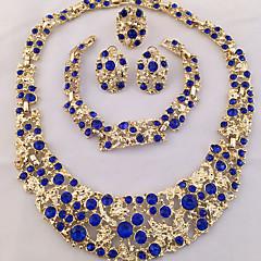 Žene Komplet nakita Prsten Izjava Ogrlice Narukvica Naušnica Jedinstven dizajn kostim nakit Moda Personalized Afrika Kristal Umjetno