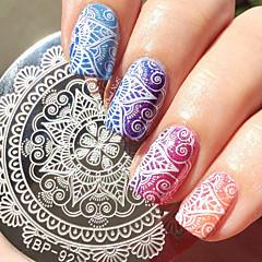 1 kom okrugli 5.5cm nail art pečat predložak za nokte žigosanje ploča
