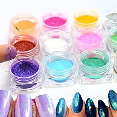 12bottle/set Nail Art Decoration tekojalokivi Pearls meikki Kosmeettiset Nail Art Design