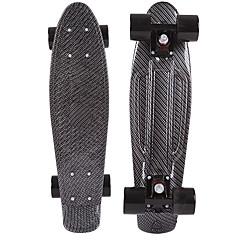 22 inç kruvazör Kaykay Standart Skateboards Profesjonalne PP (Polipropilen) Siyah