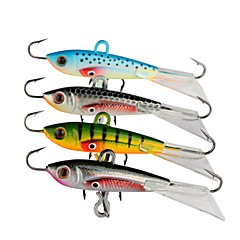 "4 pcs Metal Bait Jigs Fishing Lures Jigs Metal Bait Jig Head Assorted Colors g/Ounce,60 mm/2-3/8"" inch,Lead Metal Stainless Steel / Iron"