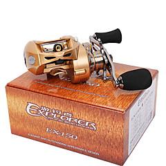 Moulinet bait casting 7.0:1 9 Roulements à billes Gaucher Pêche d'appât Pêche au leurre-EX150-L