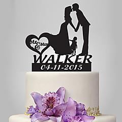 Kakepynt Klassisk Par Bryllup Romantik Bryllup Familie Polyester Veske