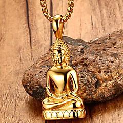 Herre Anheng Halskjede Uttalelse Halskjeder Geometrisk Form Smykker Rustfritt Stål Titanium Stål Gullbelagt Unikt design Logo Hengende