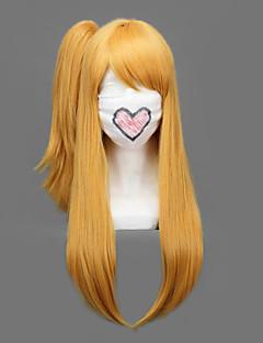 Περούκες για Στολές Ηρώων Παραμύθι Lucy Heartfilia Χρυσό Μεσαίο / Ίσια Anime Περούκες για Στολές Ηρώων 60 CM Ίνα Ανθεκτική στη Ζέστη