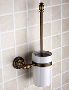 "Toiletbørsteholder Antik messing Vægmonteret 120 x 150 x 430mm (4.72 x 5.90 x 16.9"") Messing Antik"