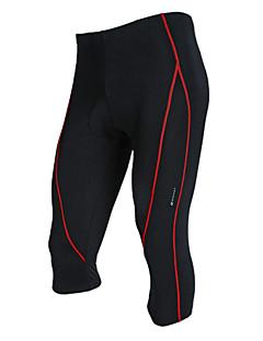Nuckily Calças 3/4 Para Ciclismo Homens Moto 3/4 calças justas Calças Secagem Rápida Vestível Respirável Poliéster Sólido Primavera Verão