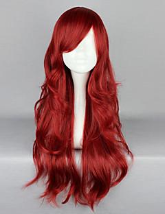 Lolita Wigs Gothic Lolita Červená Lolita Lolita Paruky 65 CM Cosplay Paruky Jednobarevné Paruka Pro