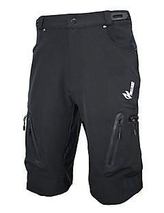 Arsuxeo Shorts para Ciclismo Homens Moto Shorts Shorts largos Calças Secagem Rápida Zíper á Prova-de-Água Vestível Respirável Elastano
