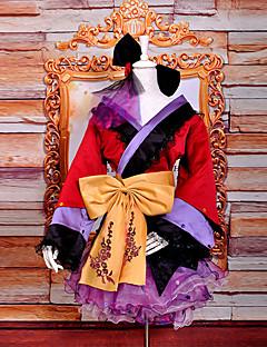 Inspireret af Vokaloid Megurine Luka video Spil Cosplay Kostumer Cosplay Kostumer Kimono Patchwork LangærmetNederdel Hovedstykke Bælte