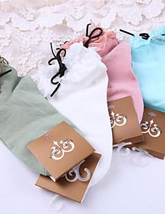Sokken en kousen Schattig Veters Roze Wit blauw Groen Lolita-accessoires Sokken Kant Voor Polyester Katoen