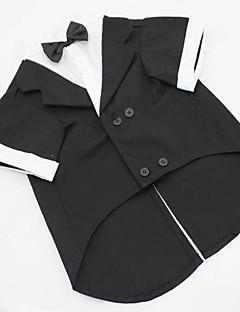 Köpekler Kostümler / Smoking Siyah / Gri Köpek Giyimi Yaz / İlkbahar/Kış Solid Düğün / Cosplay