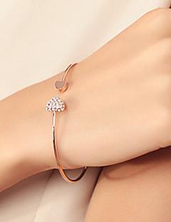 Mulheres Bracelete Pulseiras Algema Básico Amor Moda bijuterias Strass Chapeado Dourado Liga Formato de Coração Jóias Para Casamento