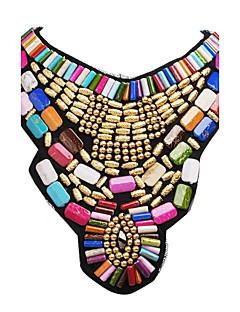 Γυναικεία Κολιέ Δήλωση Κολιέ σαν σαλιάρα Κοσμήματα Ρητίνη Κράμα Μοντέρνα Πολύχρωμα Γιορτές/Διακοπές Χρυσό Κοσμήματα ΓιαΠάρτι Ειδική