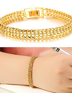 Feminino Pulseiras Algema Original Moda bijuterias Chapeado Dourado 18K ouro Jóias Jóias Para Casamento Festa Diário Casual Presentes de