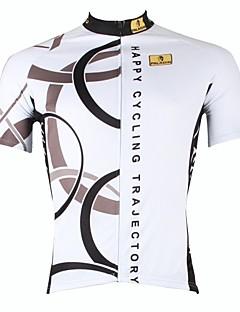 ILPALADINO Maillot de Cyclisme Homme Manches Courtes Vélo Maillot Hauts/Tops Séchage rapide Résistant aux ultraviolets Zip frontal
