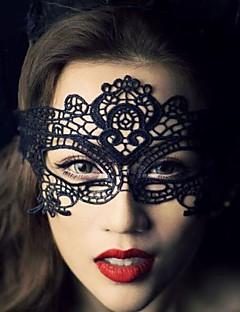 Vêtement de nuit Femme Couleur Pleine Dentelle Noir
