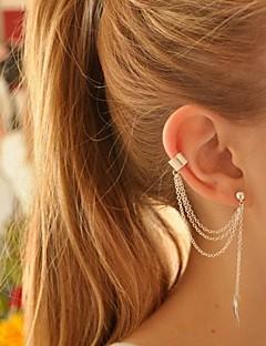 Damen Klips Ohrring Ohr-Stulpen individualisiert Europäisch Modisch Modeschmuck versilbert Aleación Blattform Schmuck Für Party