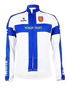 Kooplus Cyklo bunda Dámské Pánské Unisex Dlouhé rukávy Jezdit na kole Dres Vrchní část oděvuZahřívací Zateplená podšívka Voděodolný zip