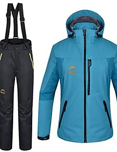 Mulheres Jaquetas 3-em-1 Prova-de-Água Térmico/Quente Jaquetas 3-em-1 Jaquetas em Velocino / Lã Jaqueta Jaqueta Feminina Jaqueta de