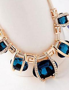 Жен. Заявление ожерелья Кристалл Бижутерия Хрусталь Искусственный бриллиант бижутерия европейский Фестиваль / праздник Бижутерия