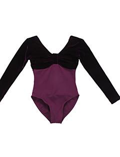 Ballet Gympakken Dames Kinderen Prestatie Opleiding Katoen Fluwelen 1 Stuk Lange Mouw Prinses Gympak