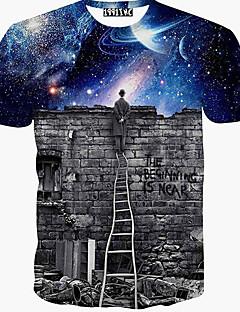 男性用 プリント カジュアル Tシャツ,半袖 コットン,アニマルプリント