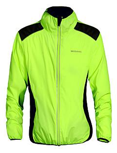 WOSAWE Cyklo bunda Unisex Jezdit na kole sako Vrchní část oděvu Prodyšné Rychleschnoucí Větruvzdorné Lehké materiály Reflexní pásky