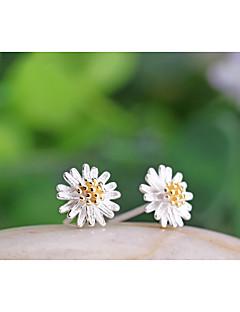 Damen Ohrstecker Modeschmuck Sterling Silber Blumenform Gänseblümchen Schmuck Für Hochzeit Party Alltag