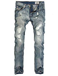 Masculino Calça Casual / Tamanhos Grandes Cor Solida Algodão Sem Manga Masculino