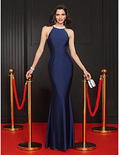 Mořská panna Klenot Na zem Úplet Promoce Formální večer Šaty s Korálky podle TS Couture®