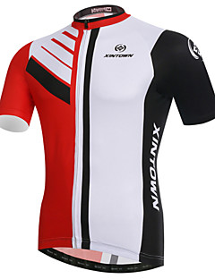 XINTOWN Maillot de Cyclisme Homme Manches Courtes Vélo Maillot Hauts/Tops Séchage rapide Résistant aux ultraviolets Respirable