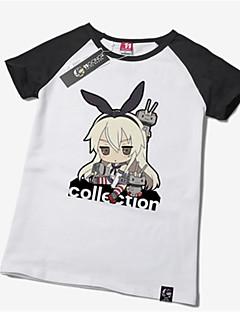 Innoittamana Kantai Collection Shimakaze Anime Cosplay-asut Cosplay T-paita Painettu Lyhythihainen T-paita Käyttötarkoitus Unisex