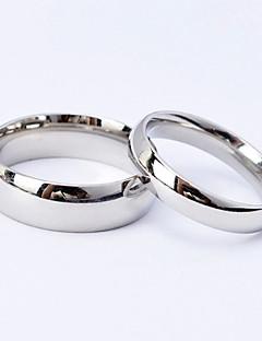 Erkek Kadın Çiftlerin Çift Yüzükleri kostüm takısı Titanyum Çelik Mücevher Uyumluluk Düğün Parti Günlük Spor