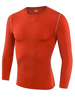 Homens Camiseta de Corrida Manga Longa Secagem Rápida Respirável Redutor de Suor Corrida Ultra Leve (UL) Elasticidade Alta Confortável