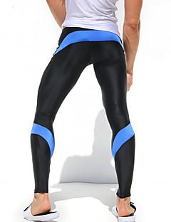 Homens Leggings de Corrida Secagem Rápida Alta Respirabilidade (>15,001g) Respirável Materiais Leves Compressão Calças Meia-calça Leggings