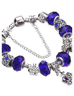 Femme Charmes pour Bracelets Bracelets Rigides Bracelets de rive Bracelets en Argent Cristal Adorable Perlé Européen Durable Mode