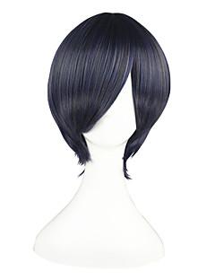 Perucas de Cosplay Black Butler Ciel Phantomhive Azul / Cinzento Curto Anime Perucas de Cosplay 32 CM Fibra Resistente ao CalorMasculino