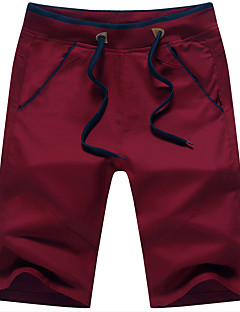 Men's Mid Rise Chinos Pants,Simple Straight Loose Solid
