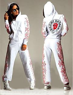 Mulheres Moletom Manga Longa Respirável Moletom Calças Conjuntos de Roupas Blusas para Exercício e Atividade Física Esportes Relaxantes
