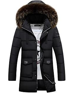 コート ダウン メンズ,カジュアル/普段着 プラスサイズ ソリッド コットン コットン-シンプル 長袖