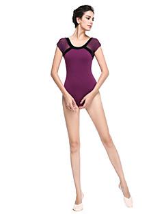 בלט חלקים עליונים בגדי ריקוד נשים כותנה שרוול קצר