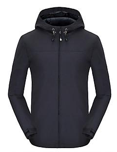 Miesten Softshell-takki vaellukseen Vedenkestävä Pidä lämpimänä Nopea kuivuminen Tuulenkestävä Fleece-vuori Eristetty Käytettävä