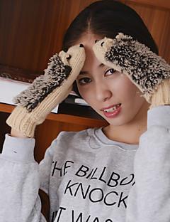 kvinners de pinnsvin strikkefingertuppene håndleddet lengde søte vinterhansker